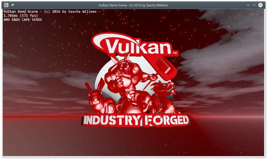 Vulkan demo scene